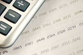 stock photo of amortization  - Calculate the loan payment by checking the amortization table - JPG