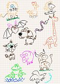 A sketch of animals