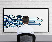 Arrows Drawing On Desk