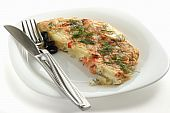 frittata with salmon and potato