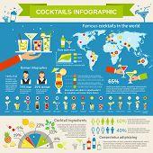Cocktails consumption infographic presentation