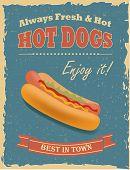 Vintage Hot Dogs Poster