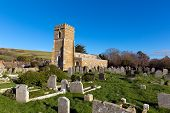 Abbotsbury church of St Nicholas Dorset UK in the village known for its swannery