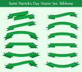 vector collection: green ribbons