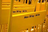 Maximum weight yellow trolley