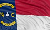 3D North Carolina Flag