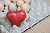 Heart And Eggs