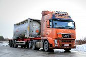 Volvo FH Tank Truck Transports Flammable Goods