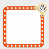 Red Frame For Any Text With Screws And Cloverleaf