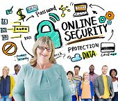 Online Security Protection Internet Safety People Leadership Concept