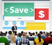Savings Finance Financial Issues Currency Money Seminar Concept