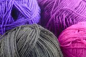 Assorted Colors Of Rolled Yarn