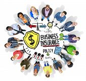 Multiethnic People Team Togetherness Risk Business Insurance Concept