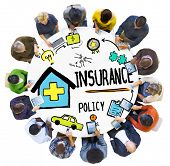 image of insurance-policy  - Diversity Casual People Insurance Policy Social Media Concept - JPG
