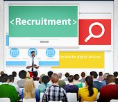 Recruitment Hiring Jobs Human Resources Seminar Conference Concept