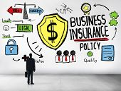 Businessman Planning Strategy Safety Risk Business Insurance Concept