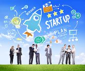 Start Up Business Launch Success Business Communication Concept