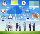 Big Data Sharing Online Global Communication Discussion Concept