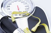 stock photo of measurements  - Image shows a bathroom scale - JPG