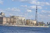 October Embankment In Petersburg.