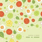 Vector fresh salad frame corner pattern background