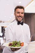 Cheerful Waiter.