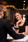 Romantic Date At The Restaurant.