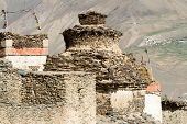 Buddhist Stupa At The Tibetan Village