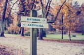 Rural Signboard - Artificial - Natural