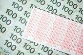 Polish form of lotto money