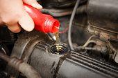 Motor Oil, Car Engine Close Up