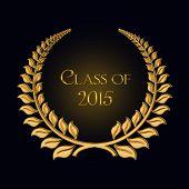 gold laurel for 2015 graduation