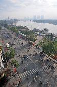 Morning On Ton Duc Thang Street Beside The Saigon River.
