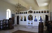 Interior of the church on the hill in Neos Marmaras