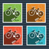 Simple flat vector images bike on the background