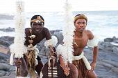 Afrikanische Zulu Tänzer