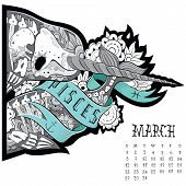 picture of pisces  - Page astrological calendar - JPG