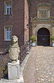 Stone lion, Wasserburg Anholt