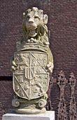 Ston lion close-up, Wasserburg Anholt