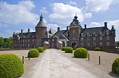 Driveway with buxus, Anholt moated castle