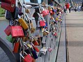 Frankfurt am Main - Love Padlocks Bridge
