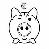 Piggy Bank Vector.eps