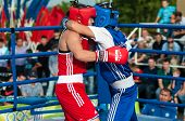 Model Boxing Match Between Girls From Russia And Kazakhstan.