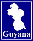 Silhouette Map Of Guyana