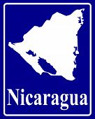 Silhouette Map Of Nicaragua
