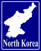 Silhouette Map Of North Korea