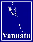 Silhouette Map Of Vanuatu