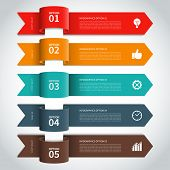 stock photo of shapes  - Modern minimal arrow infographics elements - JPG