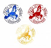 Made In European Union Stamp