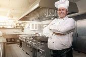 Happy Chef In His Kingdom